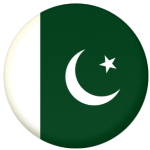 Pakistan Country Flag 58mm Mirror Keyring